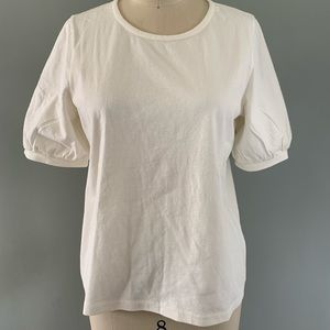 Madewell cream bubble sleeve top
